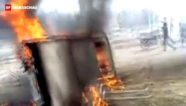 Bomben schlugen in der Ortschaft Ras al-Ain ein (Tagesschau, 3.12.2012)