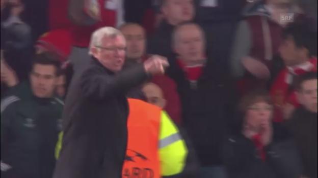 Video «Fussball: Ferguson über Platzverweis gegen Nani empört» abspielen