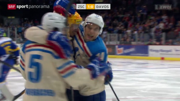 Video «Eishockey: NLA, ZSC Lions - Davos» abspielen