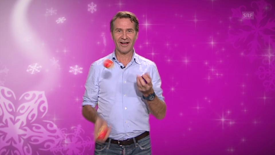 23. Dezember: Rob Spence als Jongleur-Trainer