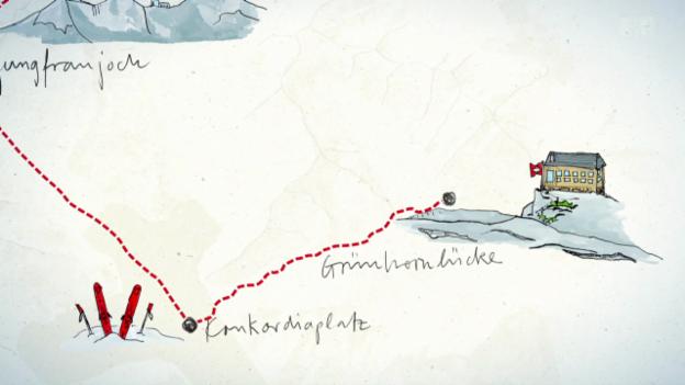 Video «2. Tag: Trümmelbachfälle - Jungfraujoch - Finsteraarhornhütte» abspielen