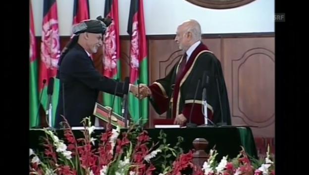 Video «Amtsantritt von Ashraf Ghani» abspielen