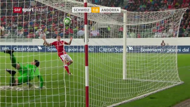 Video «WM-Quali: Die Schweiz gewinnt die Wasserschlacht gegen Andorra» abspielen
