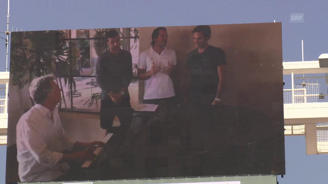 Federer, Haas und Dimitrov im Trio
