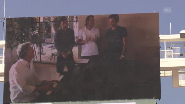 Video «Federer, Haas und Dimitrov im Trio» abspielen