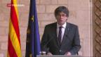 Video «Puigdemont ruft keine Neuwahlen aus» abspielen