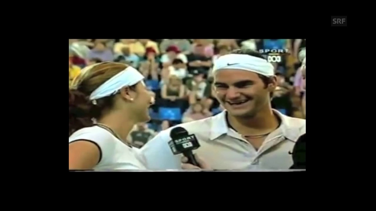 Mirka und Roger 2002 im gemeinsamen Platz-Interview