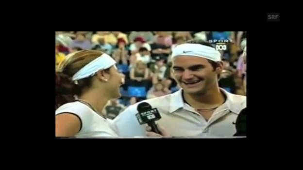 Video «Mirka und Roger 2002 im gemeinsamen Platz-Interview» abspielen