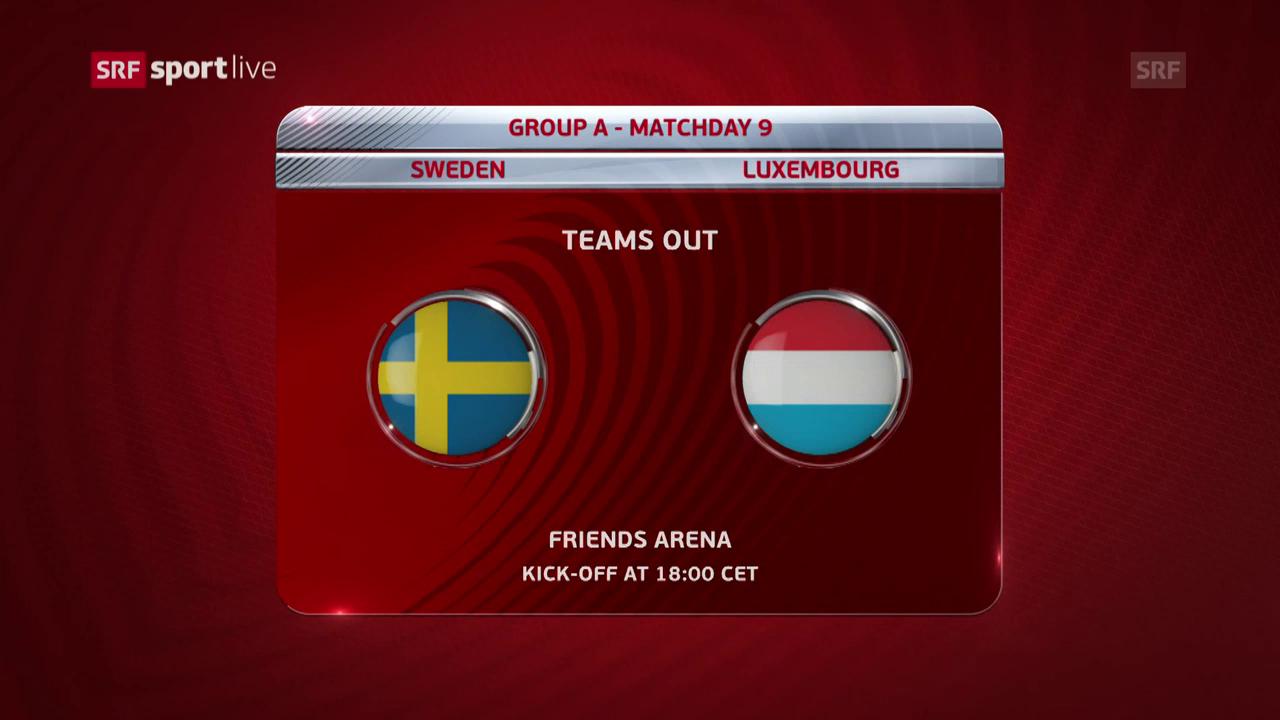 Zusammenfassung Schweden-Luxemburg
