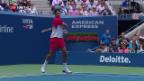 Video «US Open: Federer nach Kraftakt gegen Juschni in Runde 3» abspielen