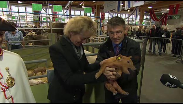 Video «Olma-Besuch von Eveline Widmer-Schlumpf (11.10.2012)» abspielen
