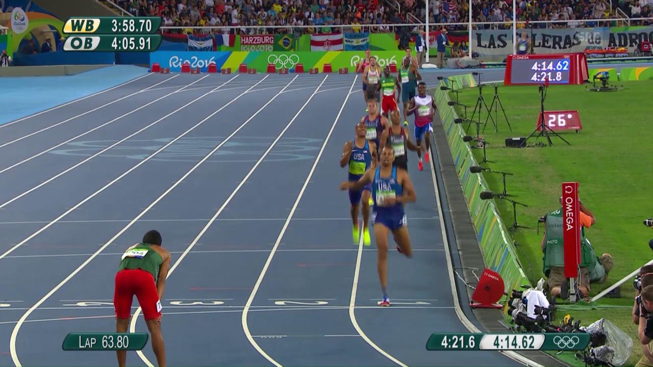 König der Leichtathleten: Eaton wird über 1500 m nicht mehr bedrängt