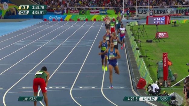Video «König der Leichtathleten: Eaton wird über 1500 m nicht mehr bedrängt» abspielen