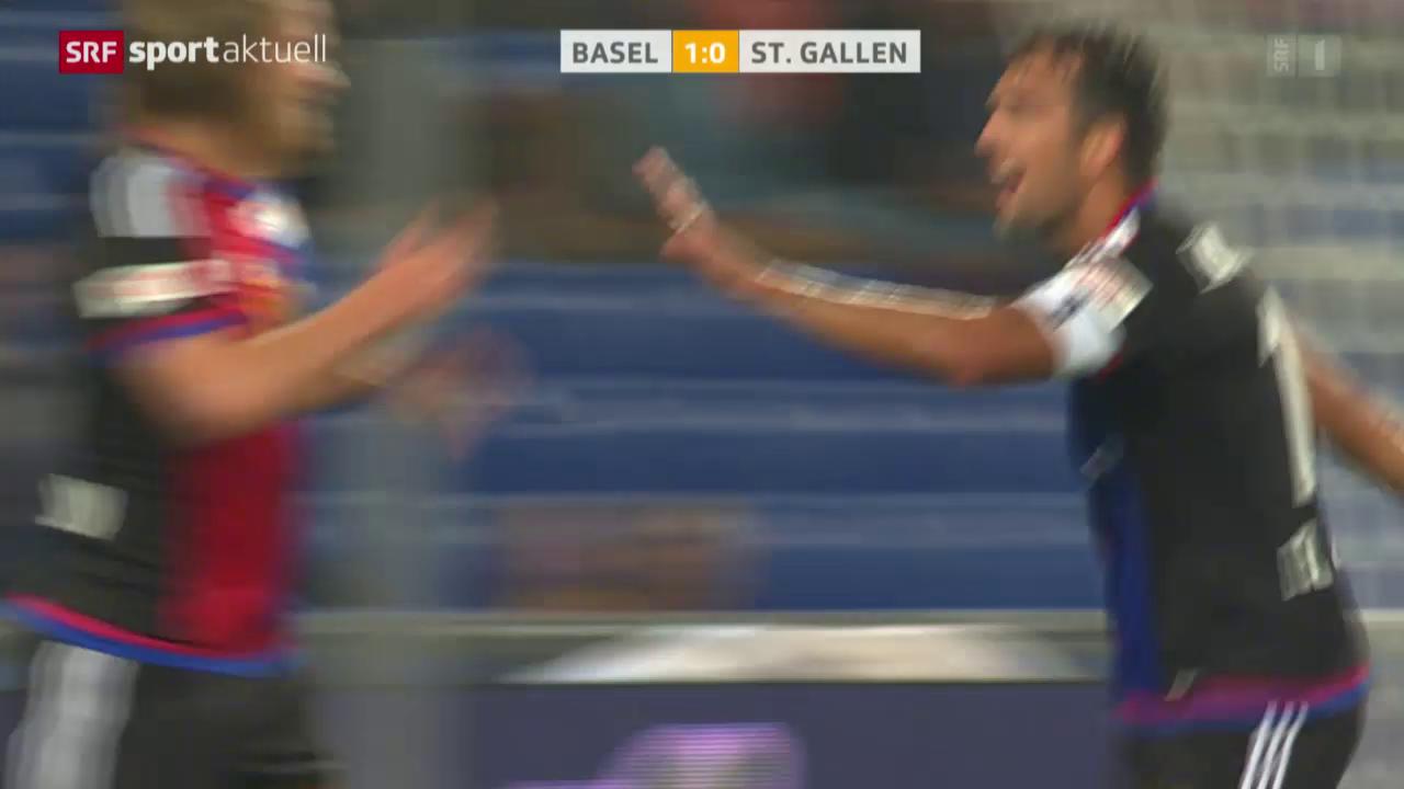 Fussball: SL, Basel-St.Gallen