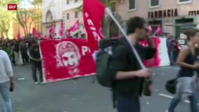 Video «Demonstrieren gegen das Sparen» abspielen