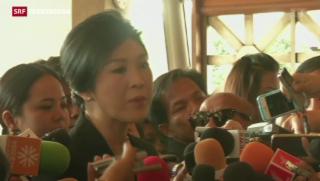 Video «Erfolg für Thailands Ministerpräsidentin» abspielen