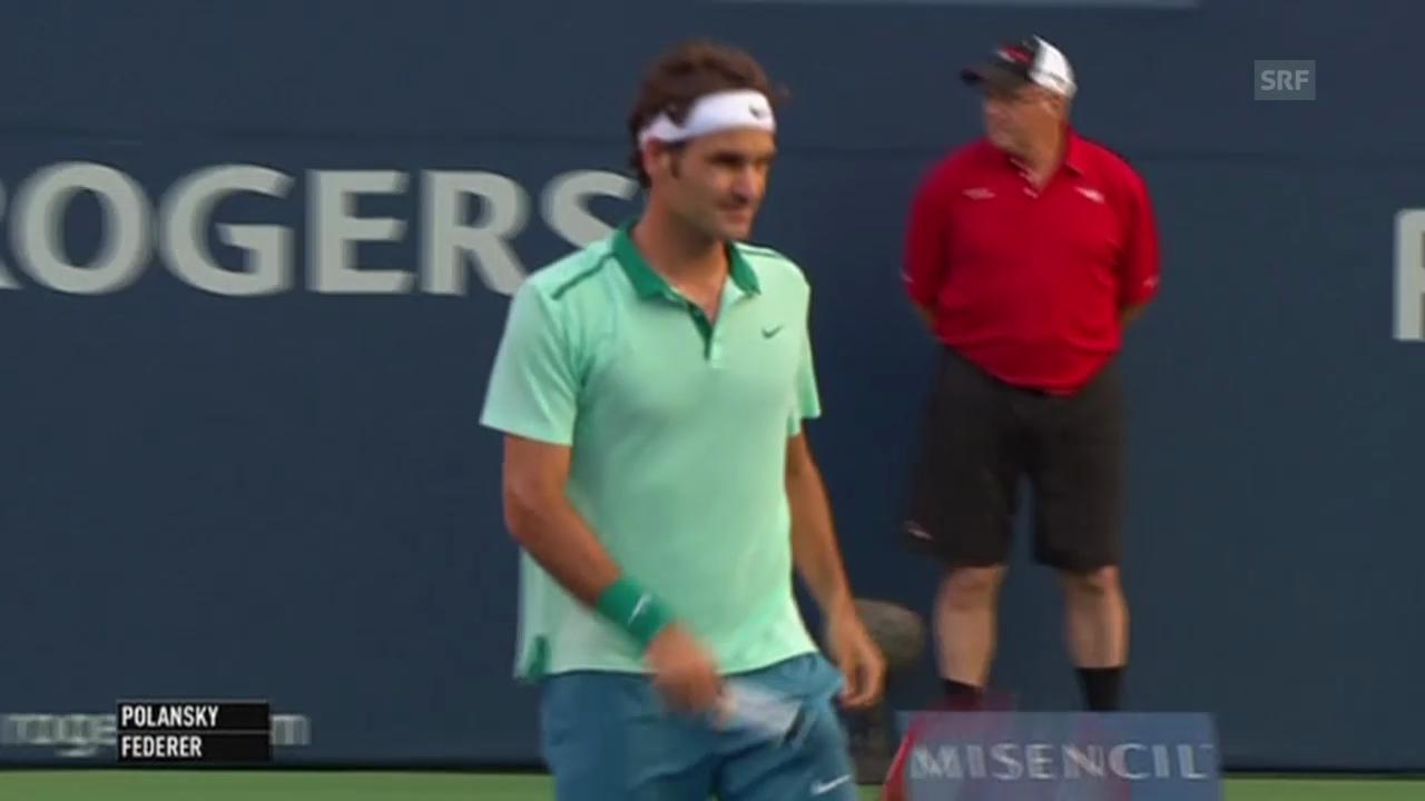 Tennis: ATP Toronto, Federer-Polansky, einige Ballwechsel