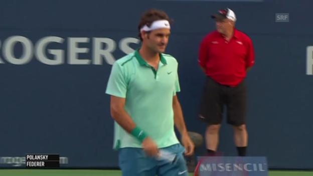 Video «Tennis: ATP Toronto, Federer-Polansky, einige Ballwechsel» abspielen