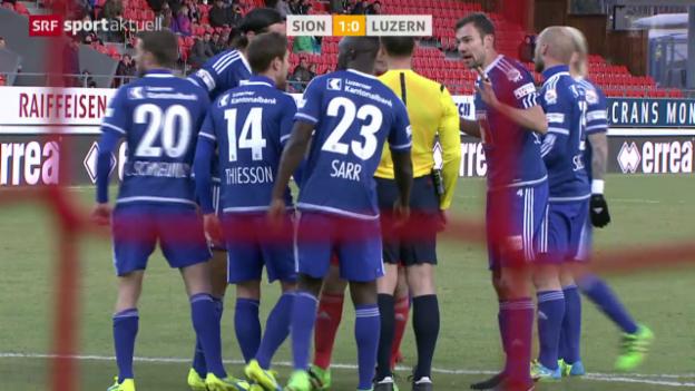 Video «Sion profitiert gegen Luzern von umstrittenen Schiedsrichter-Entscheiden» abspielen
