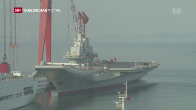 Video «China will mehr in das Militär investieren» abspielen
