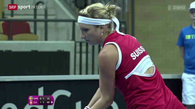 Video «Tennis, Fed Cup: Schweden - Schweiz» abspielen