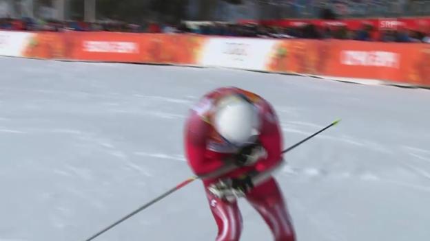 Video «Ski: Riesenslalom Männer Sotschi, 2. Lauf von von Mauro Caviezel (sotschi direkt, 19.2.14)» abspielen
