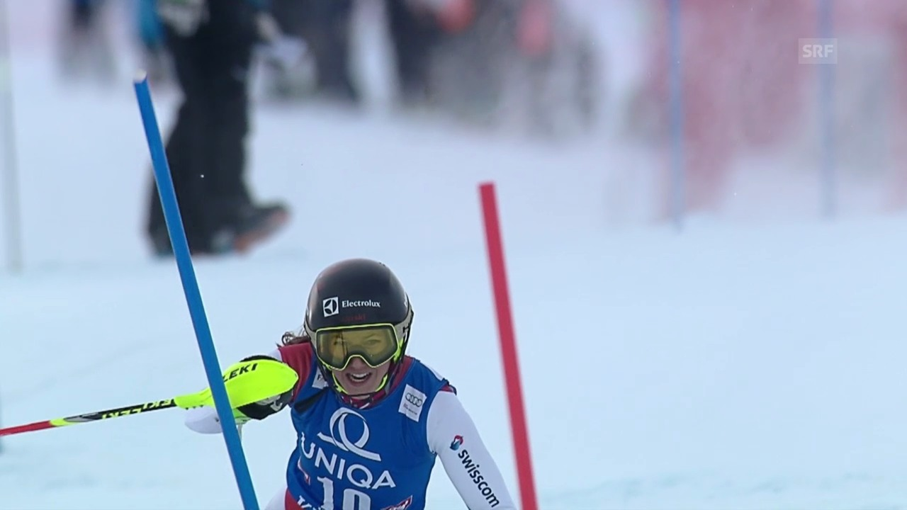 Ski: Slalom Frauen Kühtai, 1. Lauf Holdener