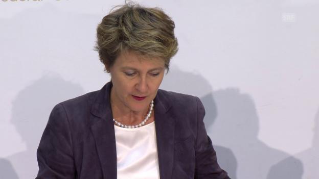 Video «Der Bundesrat verzichtet auf einen Gegenvorschlag» abspielen