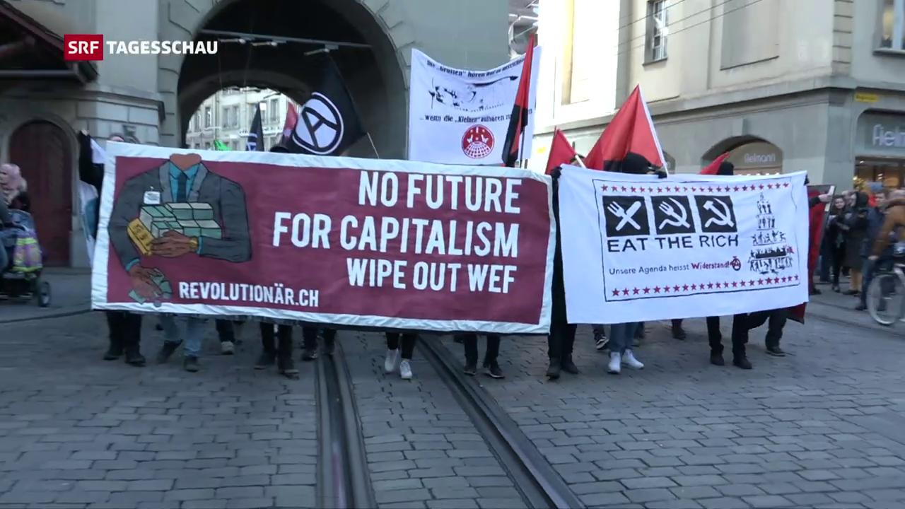 Anti-WEF-Demonstration in Bern