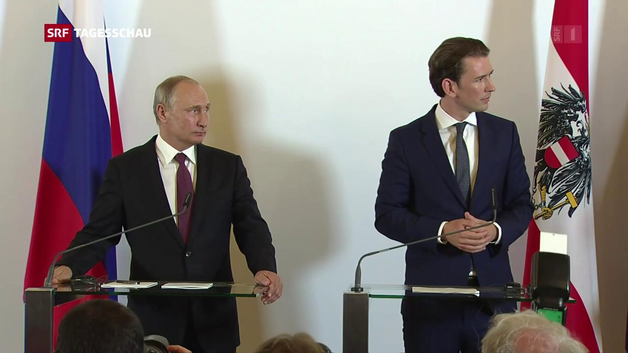 Wladimir Putin zu Besuch in Österreich