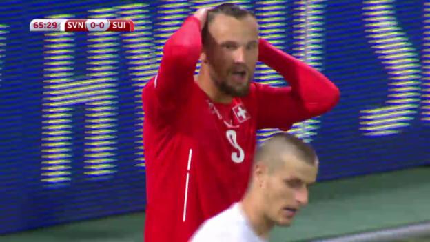 Video «Fussball: EM-Qualifikation, Highlights Slowenien - Schweiz» abspielen