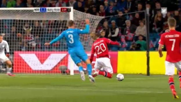 Video «WM-Quali: Zusammenfassung Norwegen - Slowenien» abspielen