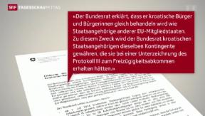 Video «Schweizer Arbeitsmarkt bleibt für Kroaten offen» abspielen