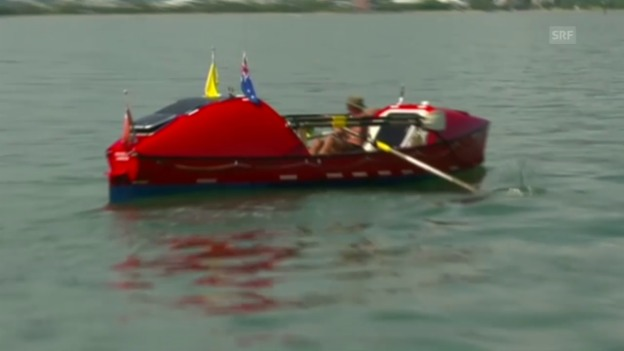Video «John Beeden erreicht Australien rudernd (Bildquelle: EVS)» abspielen