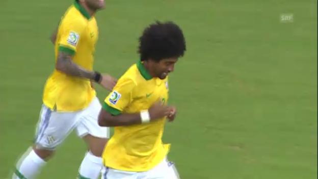 Video «Fussball: Dantes Tor gegen Italien («sportlive»)» abspielen
