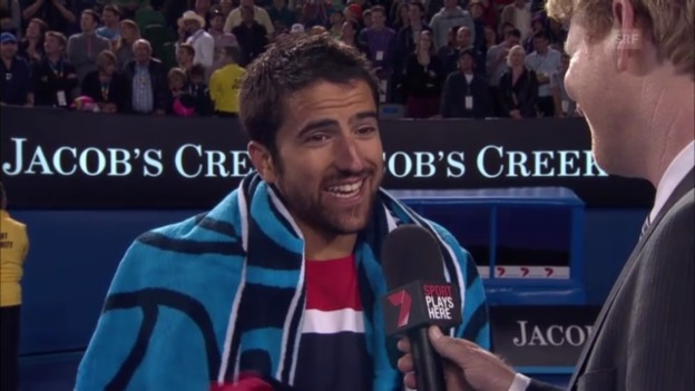 Video «Platzinterview Janko Tipsarevic («sportlive»» abspielen