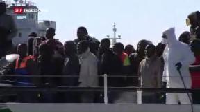 Video «Es kommen wieder mehr Flüchtlinge über das Mittelmeer» abspielen