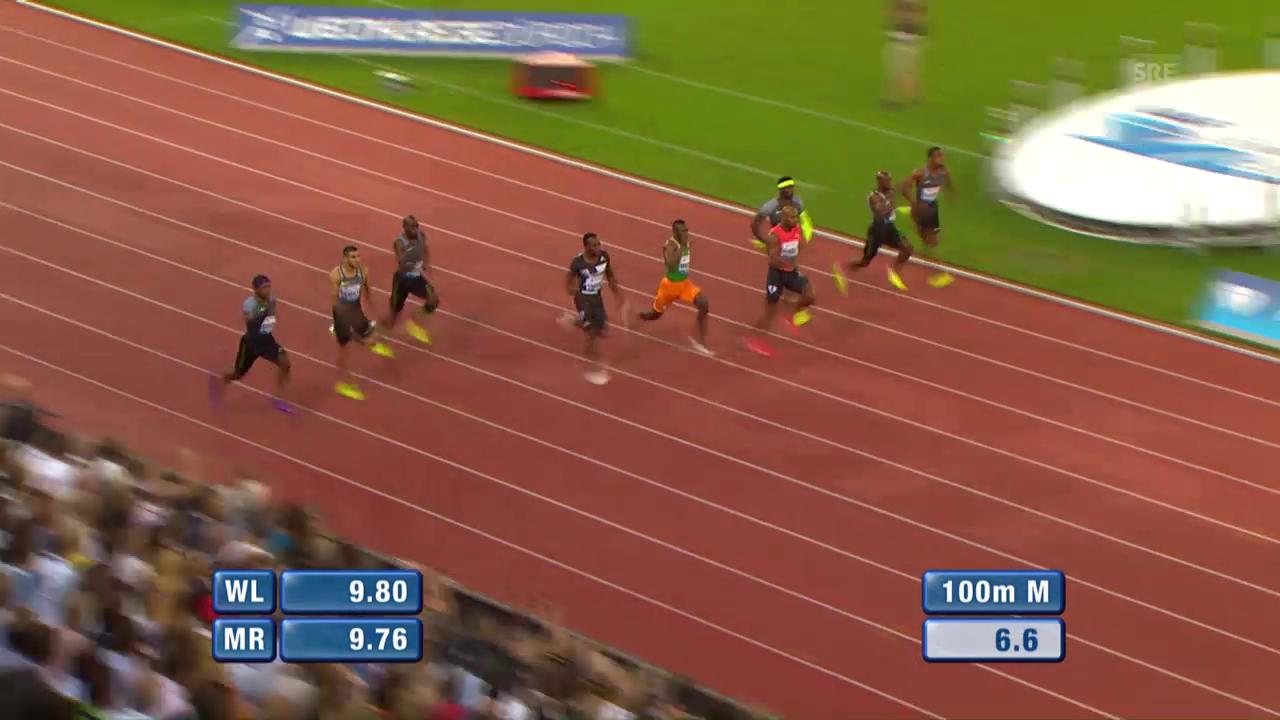 Powell souverän: Das 100-m-Rennen der Männer