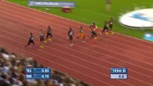 Video «Powell souverän: Das 100-m-Rennen der Männer» abspielen