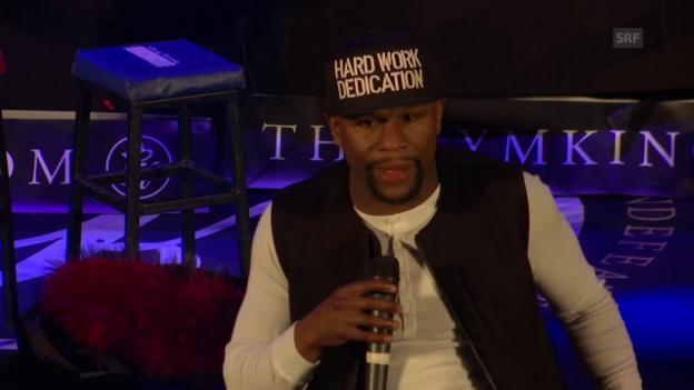 Video «Mayweather stellte sich im März dem McGregor-Fight» abspielen