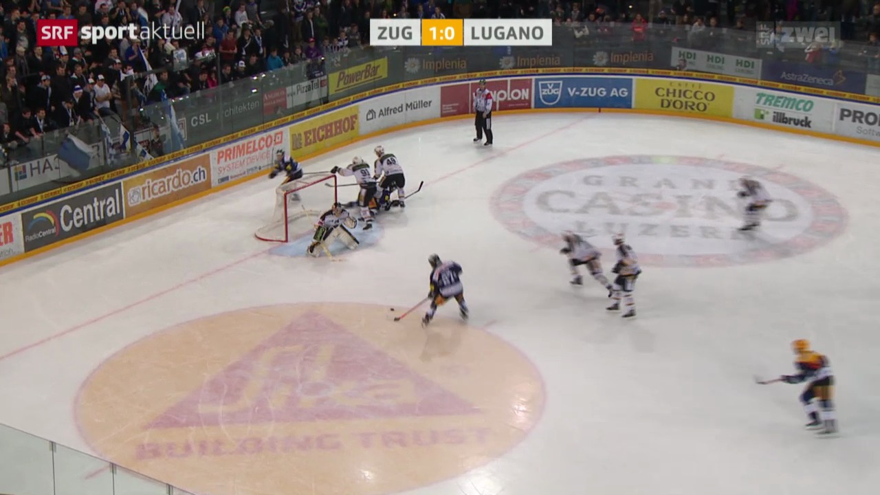 Eishockey: NLA, Zug - Lugano