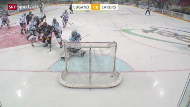 Video «Eishockey: Lugano - Lakers» abspielen