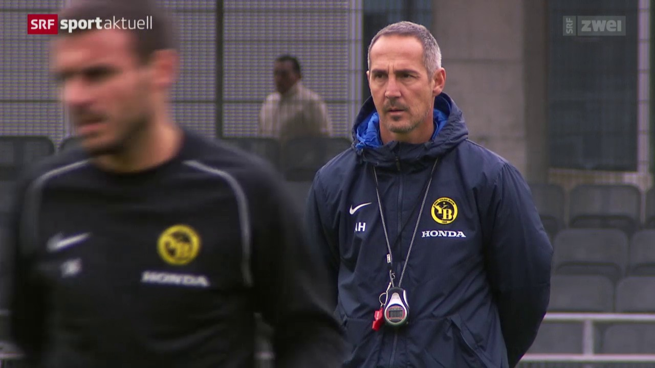 Fussball: YB-Coach Hütter vor dem Duell gegen Basel