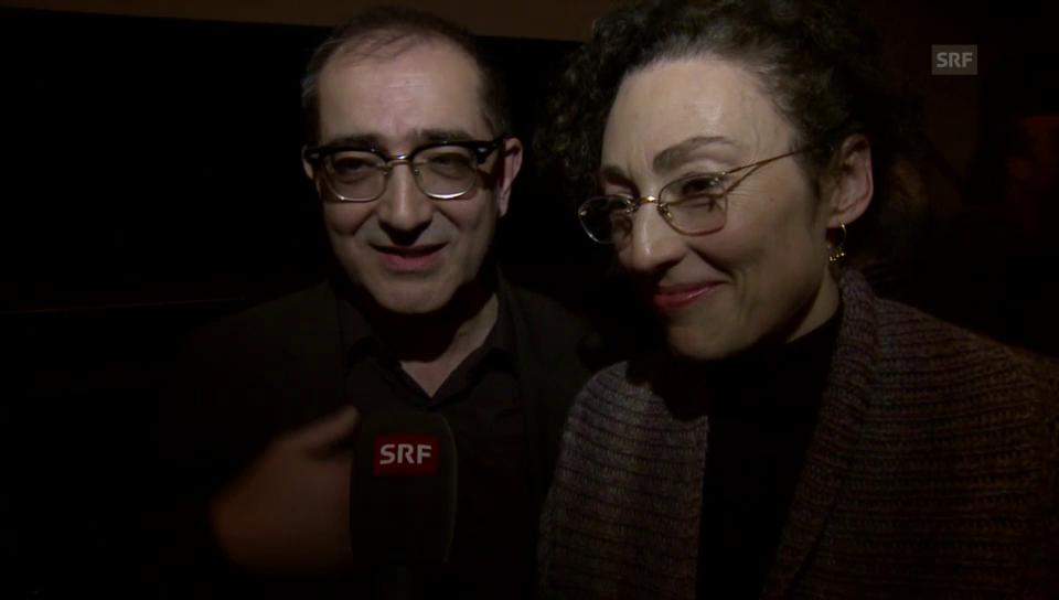 Samir und Stina Werenfels im Freudentaumel