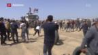 Video «Neue Proteste gegen Israel in Gaza» abspielen