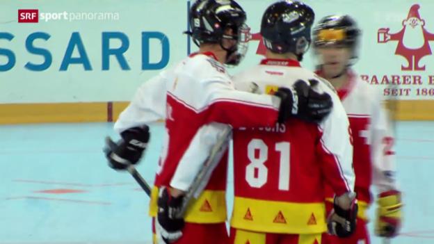 Video «Streethockey: WM in Zug, Spiel um Platz 5 Schweiz - Kanada» abspielen