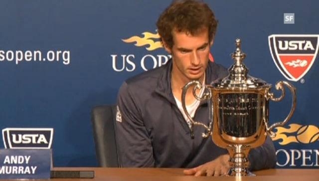 US Open: Ausschnitte aus PK mit Murray (Englisch)