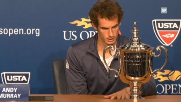 Video «US Open: Ausschnitte aus PK mit Murray (Englisch)» abspielen
