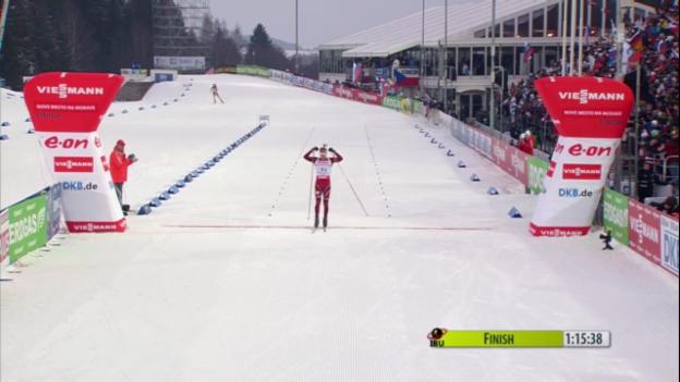Video «Biathlon: Norweger holen Staffel-Gold («sportlive»)» abspielen