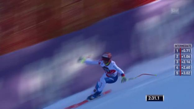 Video «Ski: Didier Defagos 1. Trainingsfahrt in Wengen» abspielen